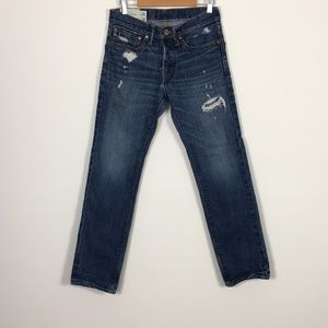 Abercrombie & Fitch Hidden Button Fly Skinny Jeans